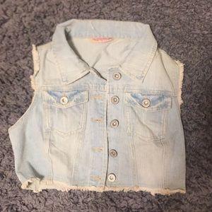 Crop Jean vest